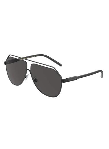 Dolce&Gabbana Dolce & Gabbana 0Dg2266 110687 63 Ekartman Erkek Güneş Gözlüğü Siyah
